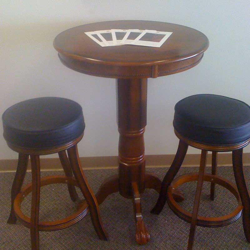 Counter Height Bar Table amp Stools Austin Billiards  : Bar Table Stools from austinbilliards.com size 800 x 800 jpeg 45kB
