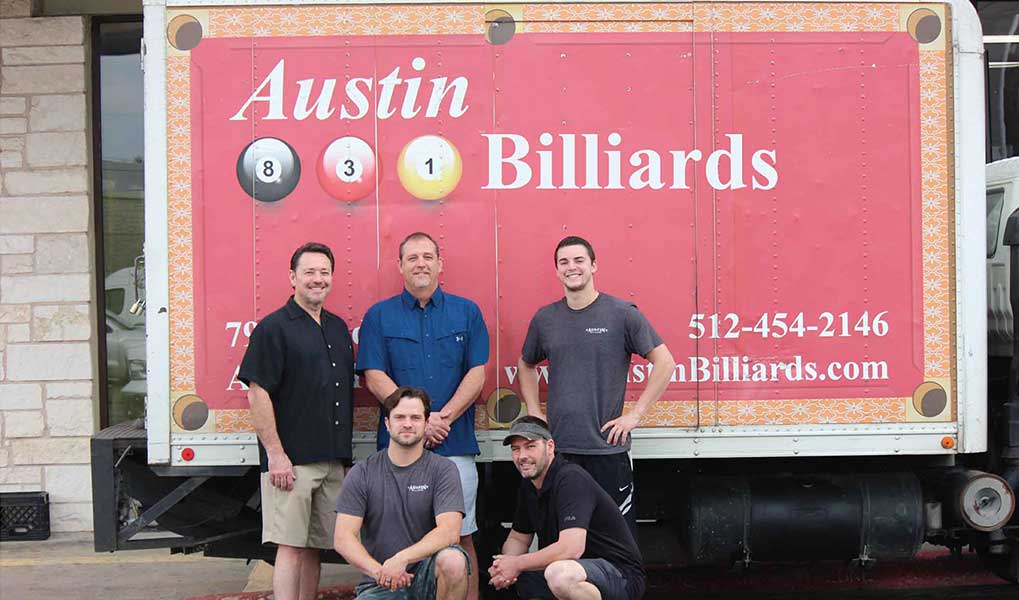 Austin Billiards Meet the Crew